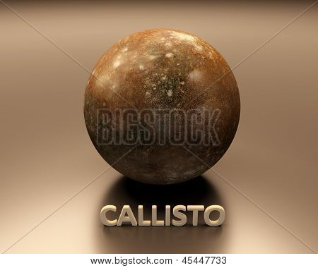 Jupitermoon Callisto