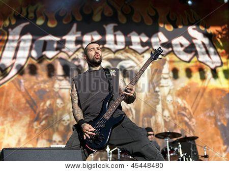 Hatebreed performs live on stage at Tuska Festival