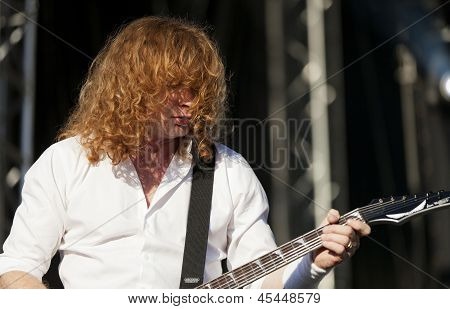 Megadeth performs live on stage at Tuska Festival