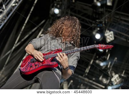 Megadeth performs live on stage at Tuska Festival