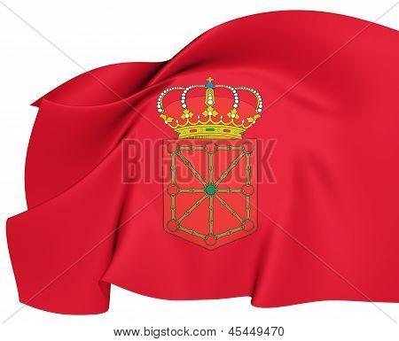 Flag Of Navarra, Spain.