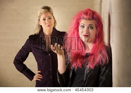Punk Teen Ignoring Parent