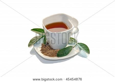 Cup Of Green Tea Isolated