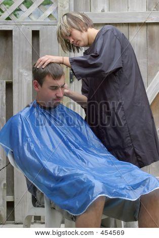 Outdoor Barber Shop