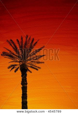 Sunset With Palmtree