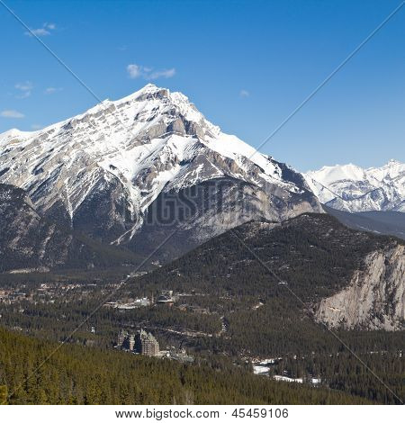 Cascade Mountain e Banff Springs Hotel