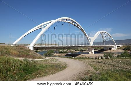 Modern Bridge In Cordoba, Spain
