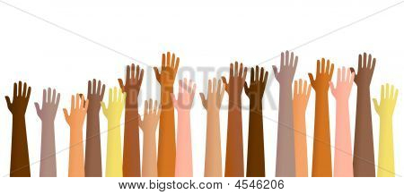 Raised Hands