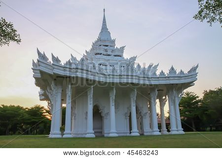 Thai white church