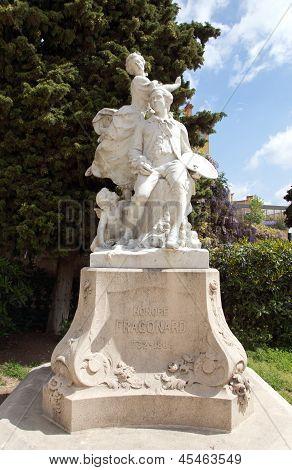 Grasse - Statue Of Fragonard