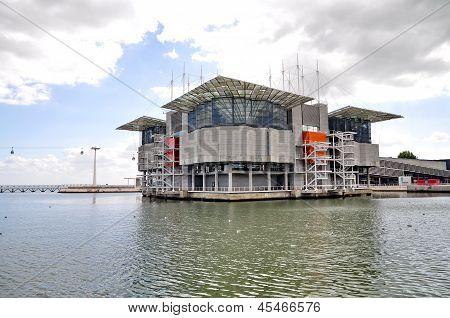 Lisbon - September 24: The Modern Oceanarium Building At Nations Park In Lisbon, Portugal On Septemb