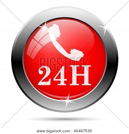 Phone 24 Hours Icon