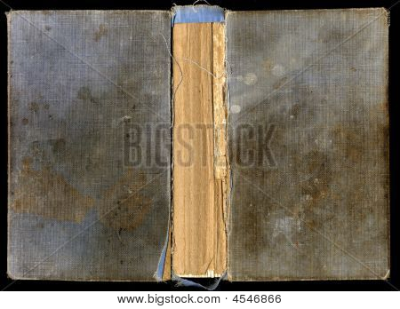 Worn And Stained Dirty Blue Leather Book Cover