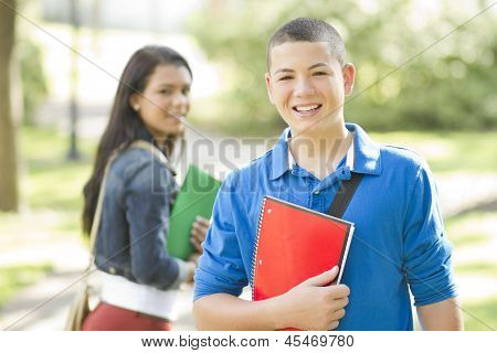 Happy Young Student