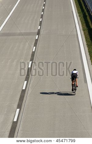 racing cyclist during time trial