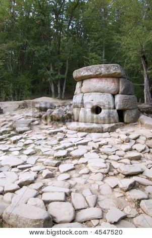 Dolmens Near Black Sea. Made Of Stone 5000 Years Ago.