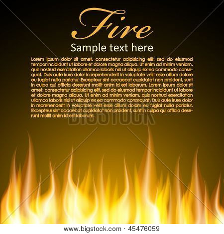 Fire background for your Design