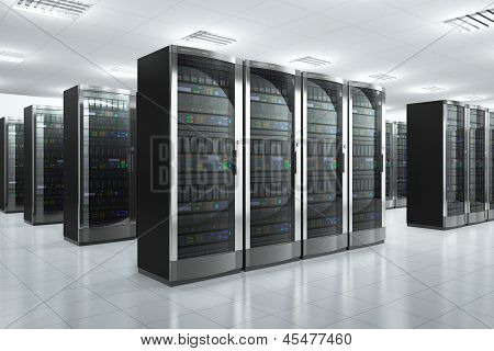 Servidores de red en datacenter