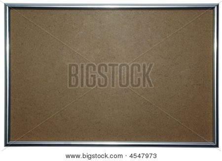 Picture Frame With Empty Space On Fiberboard.