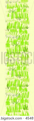 Painting of green grass vertical seamless pattern background