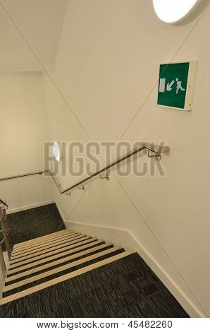Escape Route On Stairs