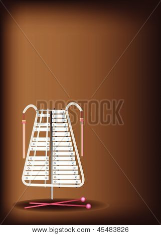 A Musical Bell Lyra On Dark Brown Background