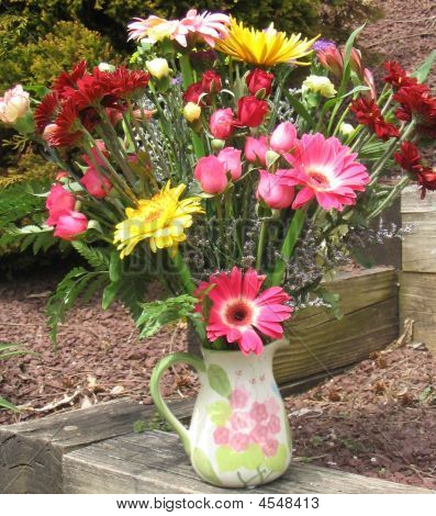 Colorful Flower Pot Arrangement