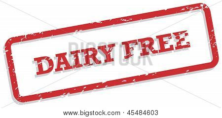 Dairy Free Rubber Stamp