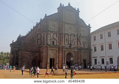 Basilica of Bom Jesus (b.1605) holds Tomb of St. Francis Xavier, Old Goa. Goa, India