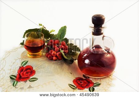 The infusion of hawthorn