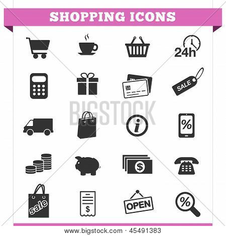 Shopping Icons Vector Set