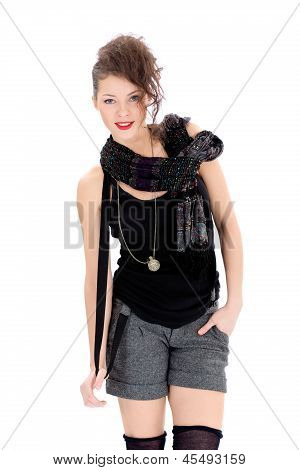 Fashion smiling woman