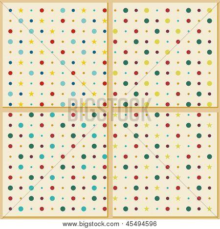 Vintage polka dot texture background