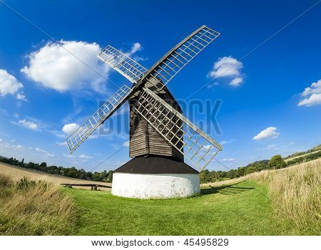 Moinho de vento se rural Hertfordshire