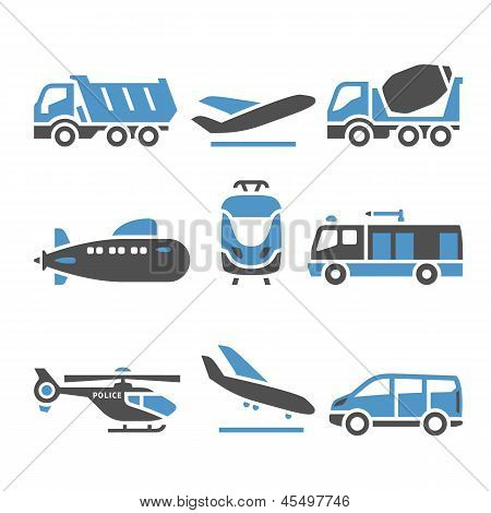 Transport Icons - A set of eleventh