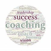 Coaching Concept Word Cloud On White Background