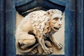Chimera on the facade of a medieval church
