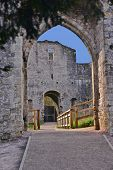 picture of chepstow  - A view of the ruins of Chepstow Castle located in Chepstow - JPG