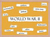 World War Ii Corkboard Word Concept