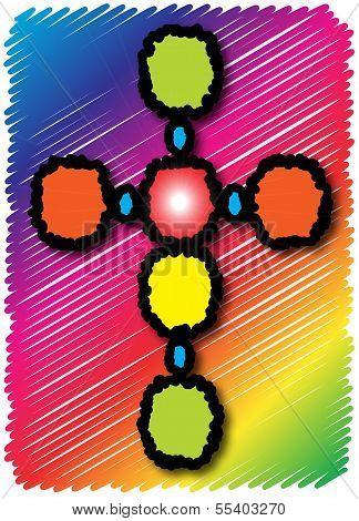 Bright Colors Cross