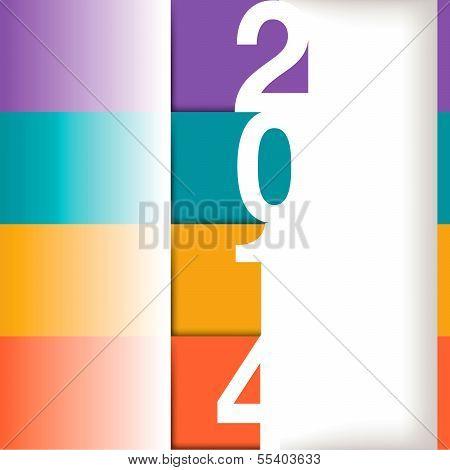 2014 Happy New Year vector illustration