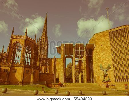 Retro Looking Coventry Cathedral
