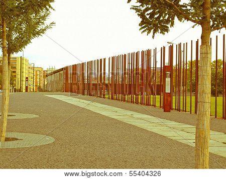 Retro Looking Berlin Wall