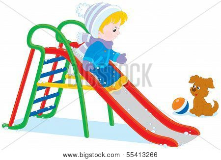 Child on a slide