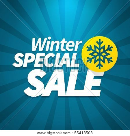 Winter Special Sale Poster