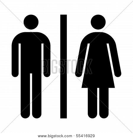 Toilet, Wc, Restroom Sign