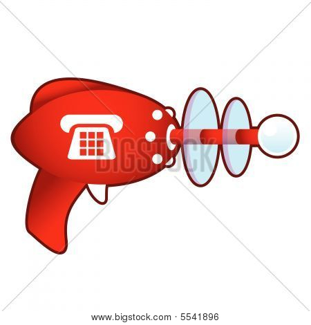 Telephone on retro raygun