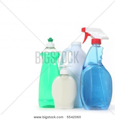 Detergent Bleach Window Spray And Soap