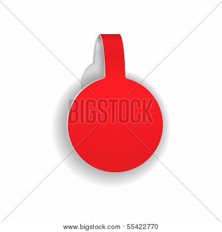 Paper Or Plastic Wobbler. Isolated On White