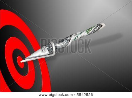 Target & 100 Dollars Banknote